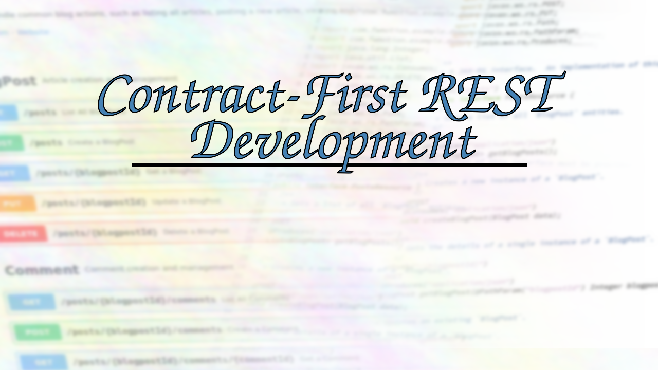 Introduction to Contract-First REST Development